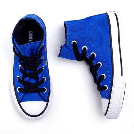 a897de46bc3 Tênis Infantil Converse All Star Cano Alto Intenso Masculino - Azul ...