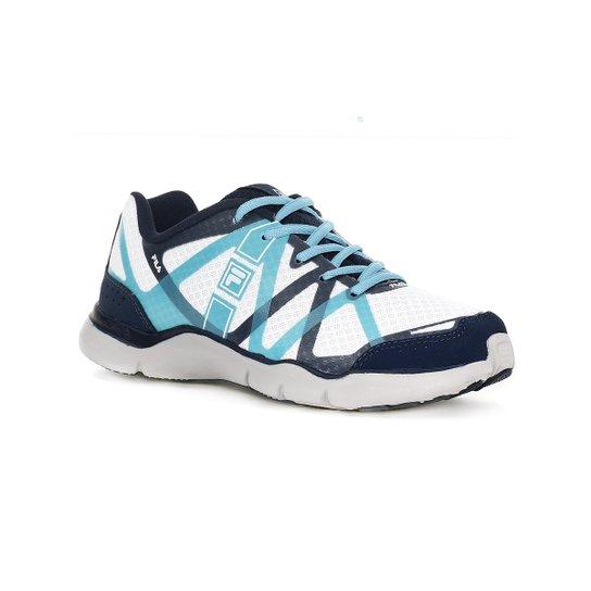 f37efa07bac Tênis Esporte Feminino Fila Omicron Azul branco - Compre Agora