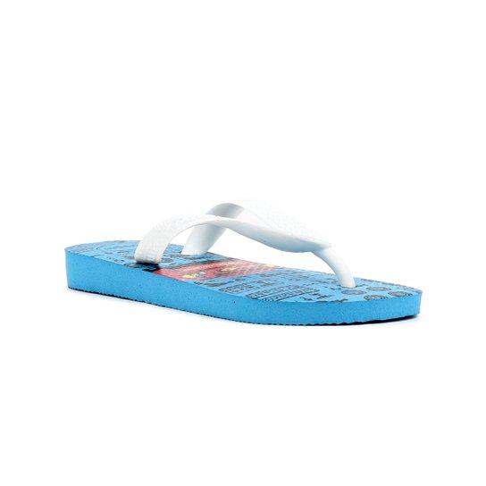b5d37938f Chinelo Infantil Havaianas Kids Carros Azul/branco   Zattini