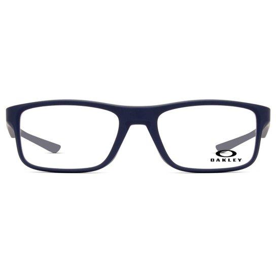 7041d032a Armação Óculos de Grau Oakley Plank 2.0 OX8081 03-53 - Azul | Zattini