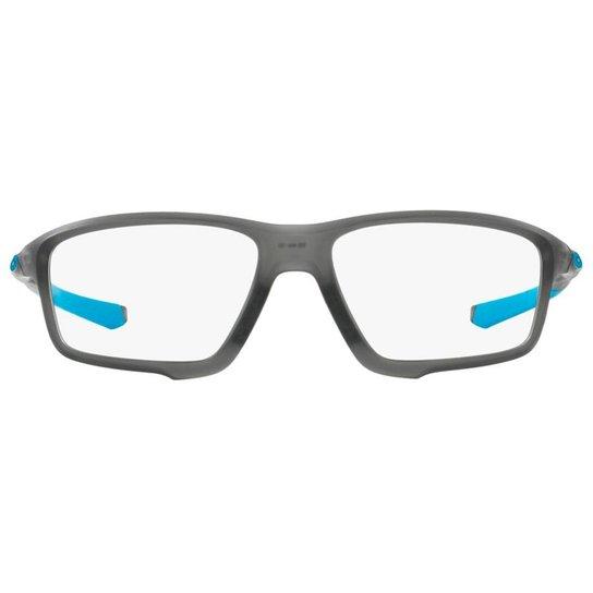 003a749404d7d Armação Óculos de Grau Oakley Frame Crosslink Zero OX8076 807601 56 - Azul