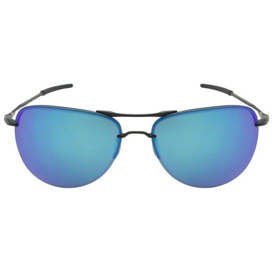 c96daad3f9 Óculos de Sol Oakley Tailpin OO4086 - Satin Black - Sapphire Iridium  Polarized - 08
