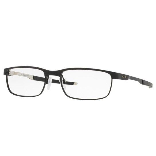 dacc0e9cd Óculos Oakley de Grau Steel Plate Masculino - Azul | Zattini