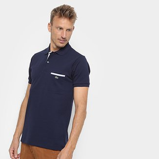bf8404b2c7d1f Camisa Polo Lacoste Original Fit Bolso