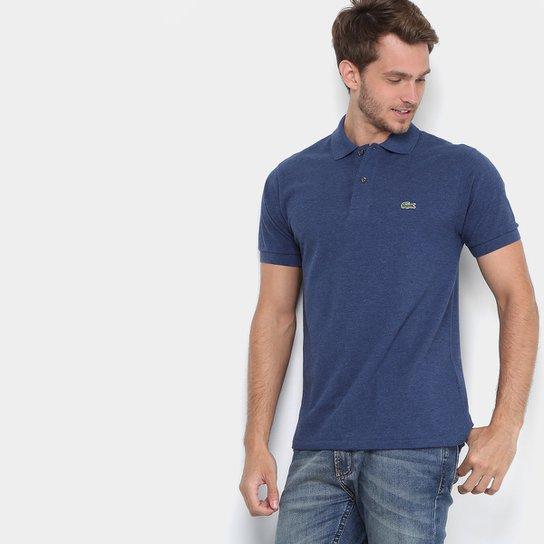 3cf743d70e Camisa Polo Lacoste Piquet Masculina - Azul - Compre Agora