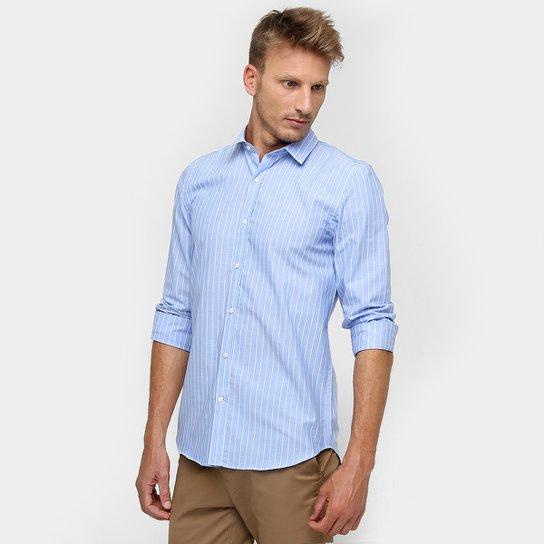 b19b43857e2d6 Camisa Lacoste Manga Longa Listras Slim Fit - Compre Agora   Zattini