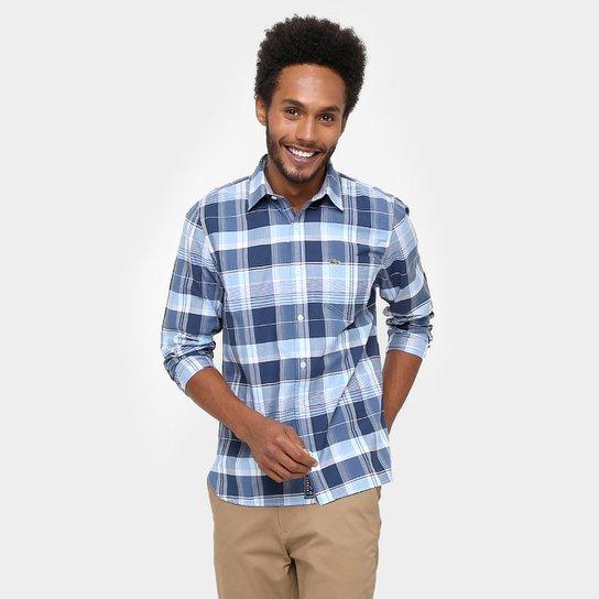 b23a566c1b Camisa Lacoste Xadrez Regular Fit - Compre Agora