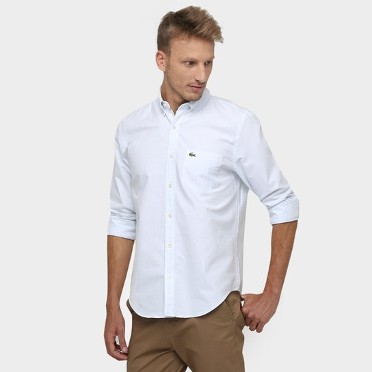 7610e5796b29b Camisa Lacoste Listrada Bolso - Compre Agora