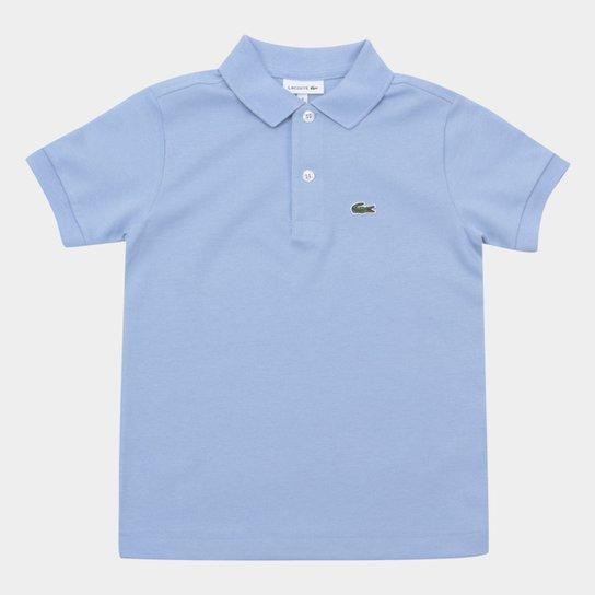 dcd9b0665ef Camisa Polo Infantil Lacoste Masculina - Azul - Compre Agora