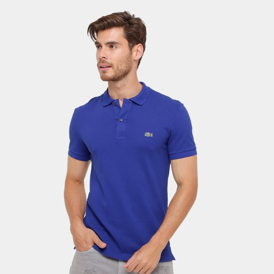 11c7a1eea Camisa Polo Lacoste Piquet Slim Fit Masculina - Compre Agora