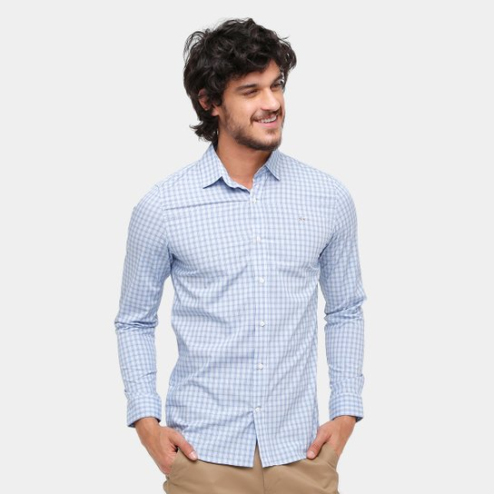a9a5f9592acfb Camisa Xadrez Lacoste Slim Fit City Masculina - Compre Agora