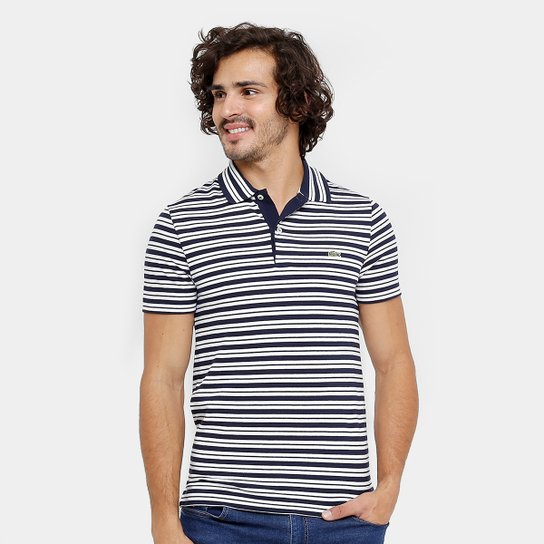 5bd1b8bb1 Camisa Polo Lacoste Piquet Regular Fit Listras Masculina - Compre ...