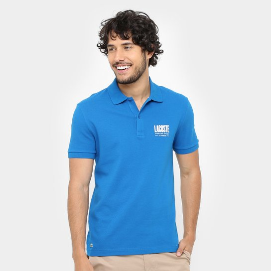 Camisa Polo Lacoste Piquet Regular Fit Print Logo Masculina - Compre ... 929bd1261b153