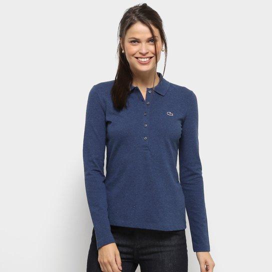 Camisa Polo Lacoste Manga Longa Botões Feminina - Compre Agora   Zattini b1d2364c79