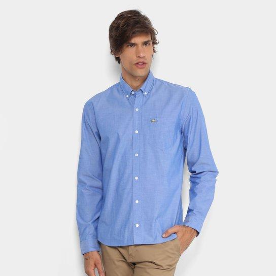 15477c0c593c3 Camisa Lacoste Regular Fit Bolso Masculina - Compre Agora