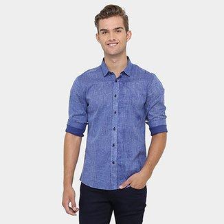 Camisa Calvin Klein Slim Fit Estonada b629d1bf87bb3