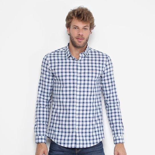 100715ac22 Camisa Xadrez Calvin Klein Slim Fit Masculina - Compre Agora