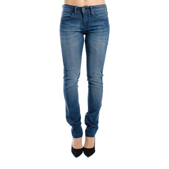 Calça Jeans Reta Clássica Calvin Klein Feminina - Azul - Compre ... 7692b33d7a