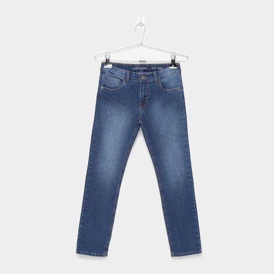 af4ef7c521 Calça Jeans Infantil Calvin Klein Five Pockets Masculina - Azul ...