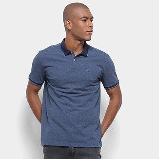 c495e7cbe Camisa Polo Calvin Klein Masculino Regular Corpo Mescla Gola Colorida  CM9OW02PR528