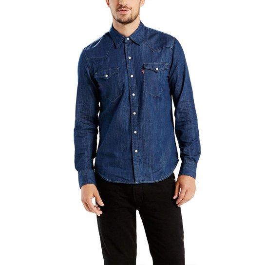 Camisa Levis Classic Western 669860020 - Azul - Compre Agora  568fdee5215