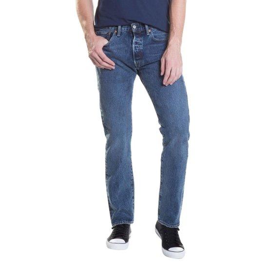 0c75a13df Calça Jeans Levis 501 Original Azul Médio - Compre Agora | Zattini