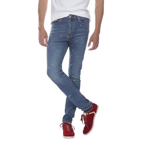 88b7eee5e5864 Calça Jeans Levis 510 Skinny Azul Claro com Detalhes - Compre Agora ...
