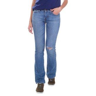 060a4a4690 Jeans Levis Feminino 715 Bootcut Vintage Lavagem Média