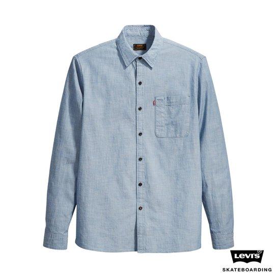 Camisa Jeans Levis Skateboarding Riveter - Azul - Compre Agora  4c3129f6e8a