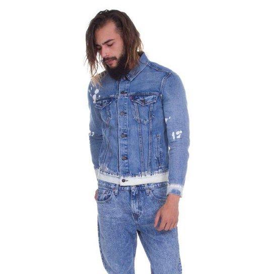 Jaqueta Jeans Levis The Trucker Lavagem Média - Azul - Compre Agora ... d0c6c7a260d
