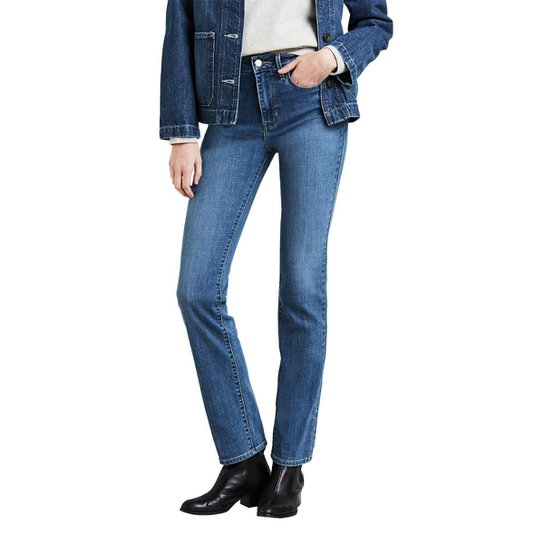 49d6bad59f959 Calça Jeans Levis 724 High Rise Straight Feminina - Azul - Compre ...