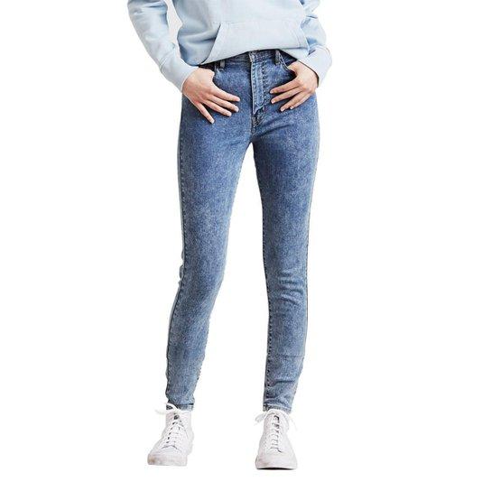 Calça Jeans Levis Mile High Super Skinny Média Feminina - Azul ... 035cff77503