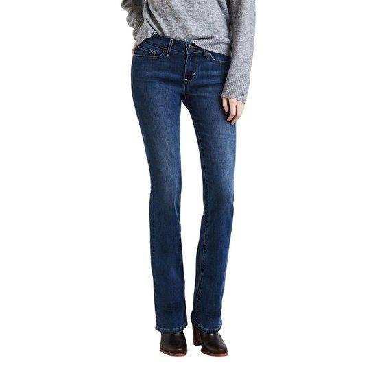 6e8af7cc817 Calça Jeans Levis 715 Bootcut Escura Feminina - Azul - Compre Agora ...