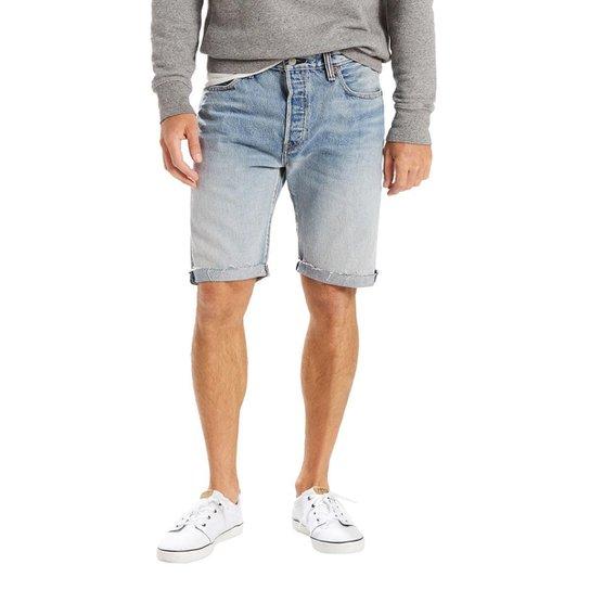 c5c971ac151 Bermuda Jeans Levis 501 Original Cut Off Pride Media Masculina - Azul
