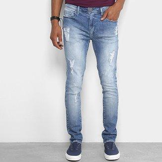 4fa31cc04 Calça Jeans Skinny Cavalera Estonada Masculina