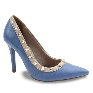 de041dca8f Scarpins Via Marte Feminino Azul - Calçados