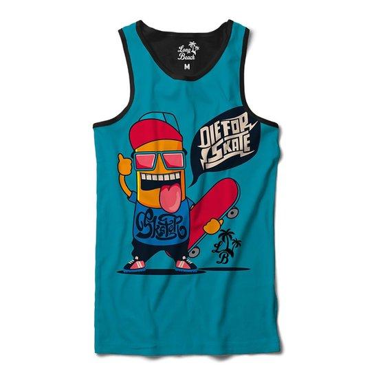Camiseta Regata Long Beach Die for Skate Sublimada Masculina - Azul ... 0a52b690be1