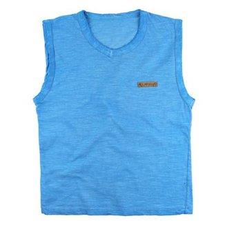 4f98eeebd47bd Camiseta Regata Infantil Gola V Visual Radical Masculina