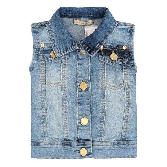 Colete Jeans Feminino Cavado - Azul - Compre Agora  b172002ab9be9