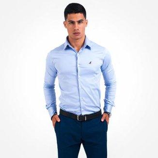 86644664c1 Camisa Social Masculina Super Slim