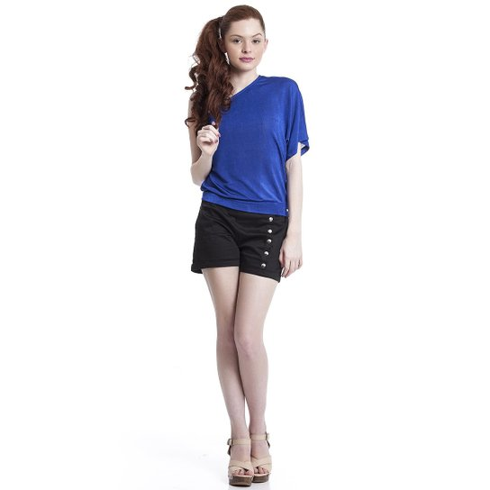 86411d8f438c Blusa Teen de Um Ombro Só - Azul   Zattini