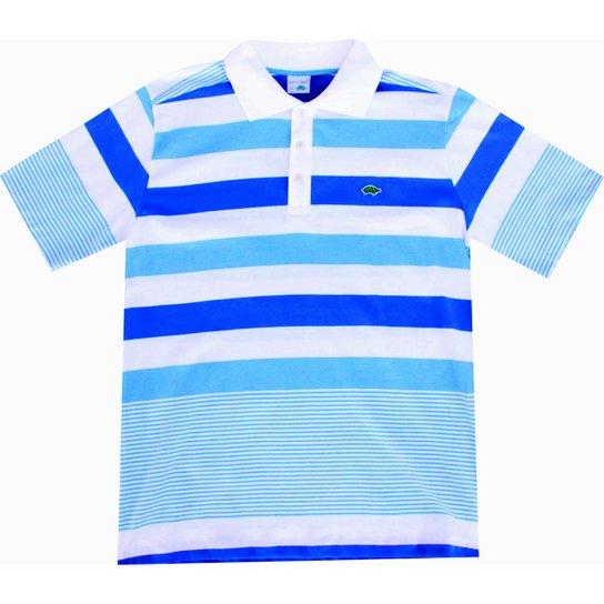 642618d9c2 Camisa Pau a Pique polo Listrada - Azul - Compre Agora
