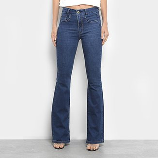 b1a019405 Calça Jeans Flare Maria Filó Cintura Média Feminina