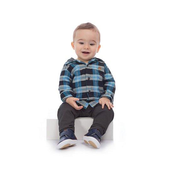 930bb46267 Conjunto Camisa e Calça Infantil Up Baby Masculino - Azul - Compre ...