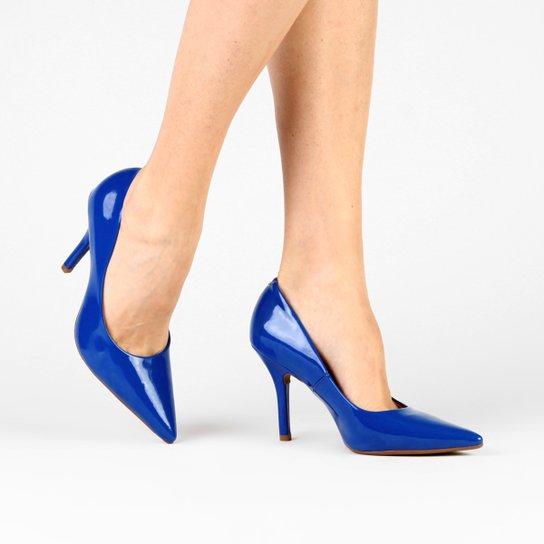 335d8e7b51 Scarpin Vizzano Bico Fino Básico - Azul - Compre Agora