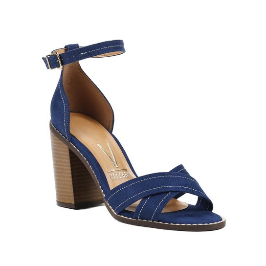 58ce0a8709 Sandália de Salto Feminina Vizzano Azul - Compre Agora
