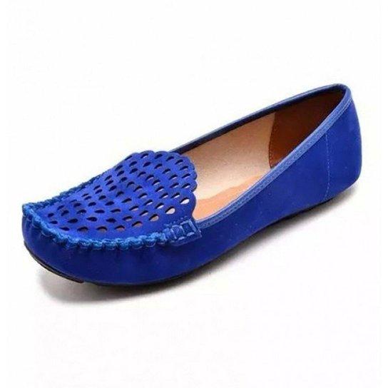 c2ef86ff70 Mocassim Vizzano Nobuck Nice Glam Feminino - Azul