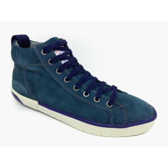 Sapatênis Couro Ferracini San Diego Hi Masculino - Azul - Compre ... 9321730a24fc5