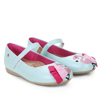 4ced6e6f6 Sapatilha Infantil Ortopé Poá com Patch Flamingo Feminina