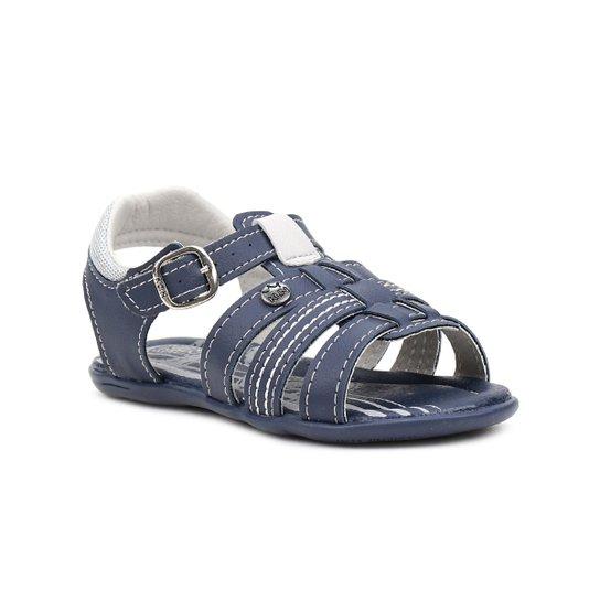 b91b93cd6 Sandália Infantil Para Menino Klin Milk Azul marinho - Compre Agora ...